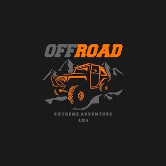 Vector de logotipo offroad