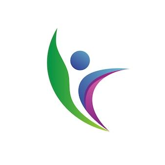Vector de logotipo de salud de personas