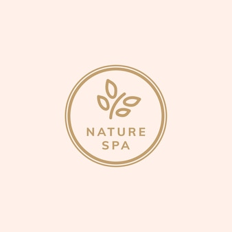 Vector de logotipo de terapia de naturaleza spa