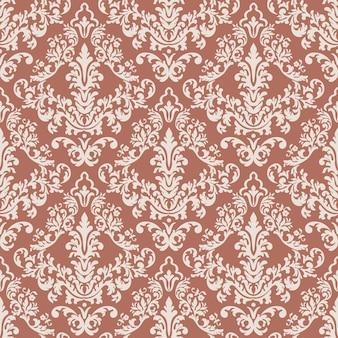 Vector de lujo clásico antiguo adorno de damasco de patrones sin fisuras