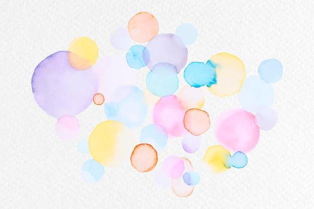 Vector de manchas de acuarela abstracta colorida