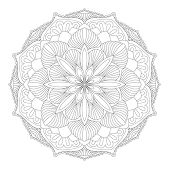 Vector mandala elemento decorativo oriental. islam, árabe, indio, turco, pakistán, chino, motivos otomanos