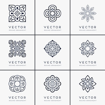 Vector mandala étnica