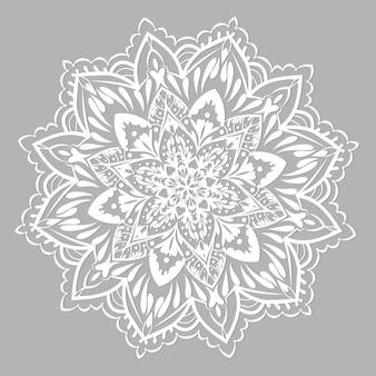 Vector de mandala mandala con adornos étnicos
