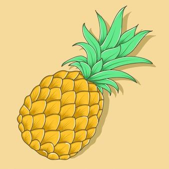 Vector de manzana de pino