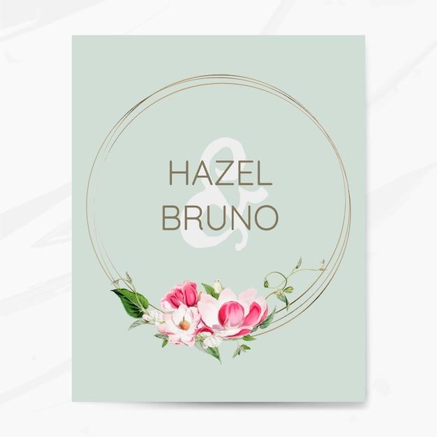 Vector de maqueta de tarjeta de invitación de boda