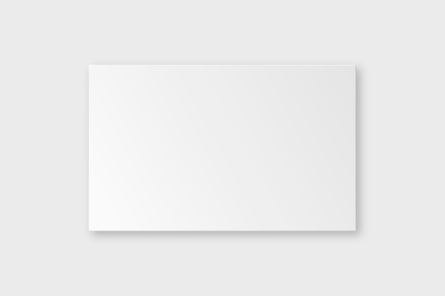 Vector de maqueta de tarjeta de visita en blanco en tono blanco