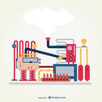 Vector de máquina industrial