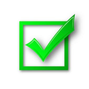 Vector marca de verificación aislada.
