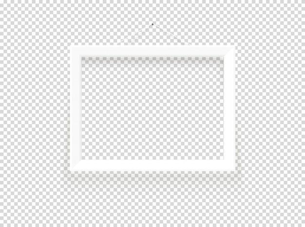 Vector de marco blanco en blanco