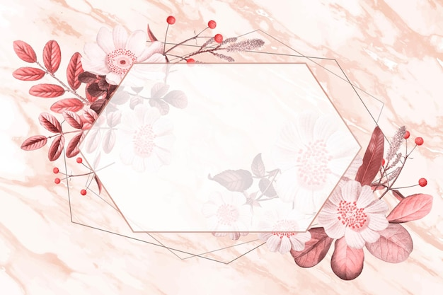 Vector de marco en blanco en patrón botánico de verano