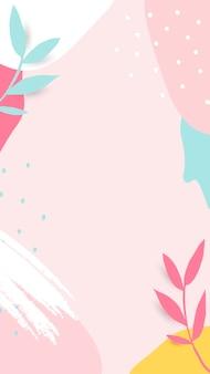 Vector de marco colorido frondoso de memphis