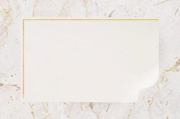 Vector de marco dorado rectángulo en blanco