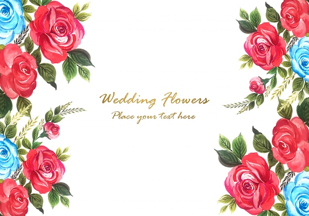 Vector de marco floral decorativo hermoso aniversario de boda
