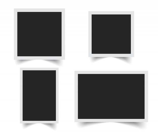 Vector de marco de foto en blanco