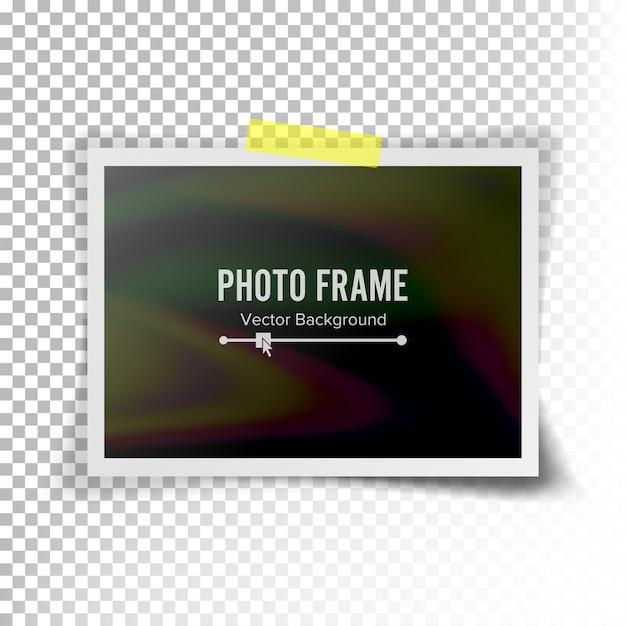 Vector de marco de foto instantánea. fotorrealista