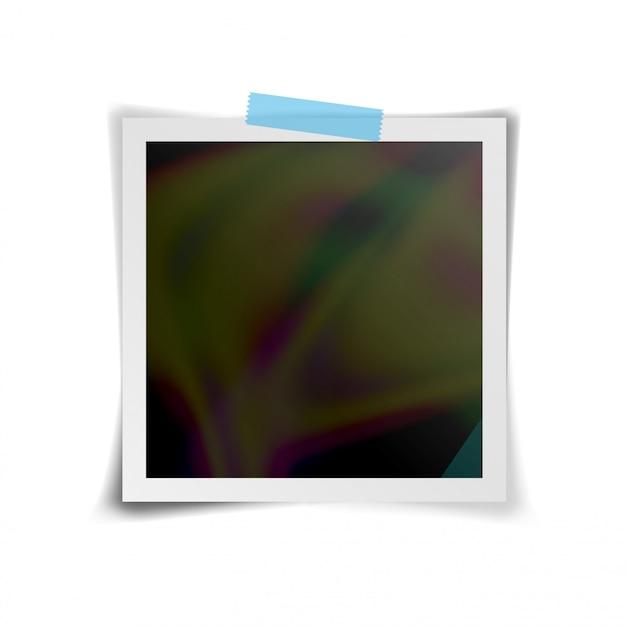 Vector de marco de foto instantánea. marco de fotos retro