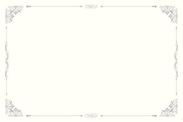 Vector de marco ornamental vintage sobre fondo beige