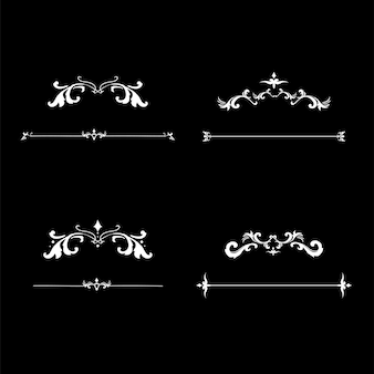Vector de marco de ornamento de florecer vintage