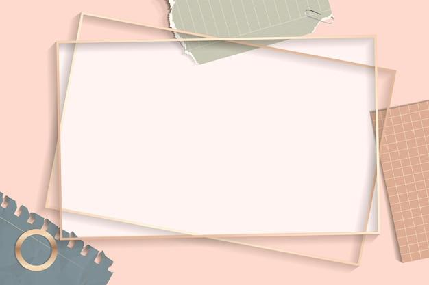 Vector de marco de rectángulo de notas rasgadas