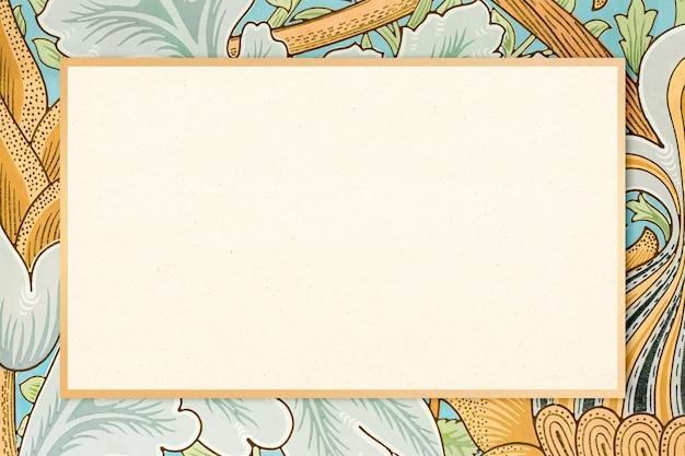 Vector de marco de tela bohemia patrón de william morris