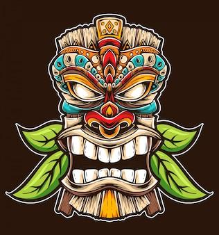 Vector de mascara tiki