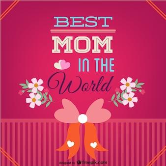 Vector mejor madre en el mundo