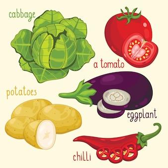 Vector de mezcla de verduras