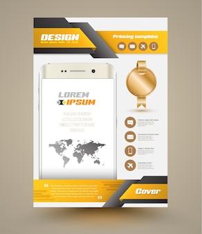 Vector moderno resumen folleto