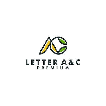 Vector de monograma de diseño de logotipo letra ac