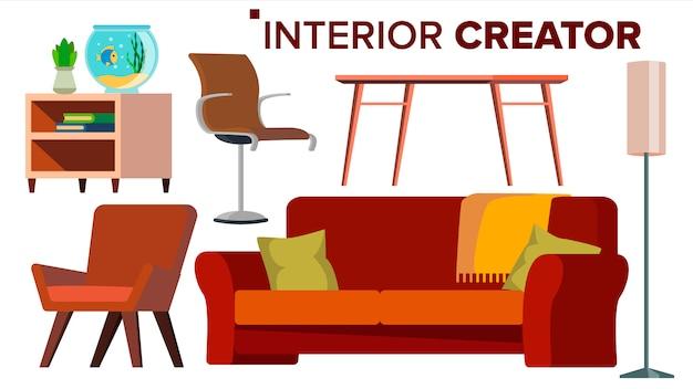 Vector de muebles creador.
