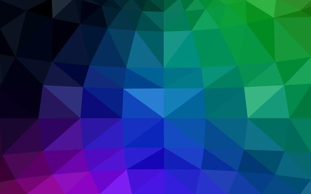 Vector multicolor oscuro fondo de cristal poli baja