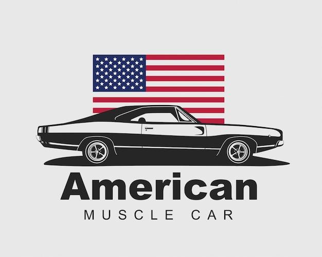 Vector de muscle car americano.