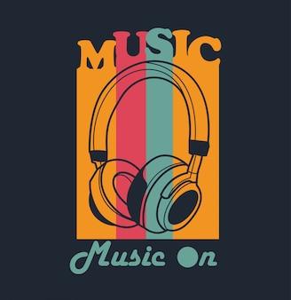 Vector de musica para diseño de camiseta