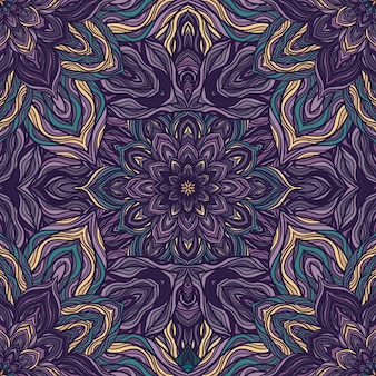 Vector naturaleza de patrones sin fisuras con flores abstractas.
