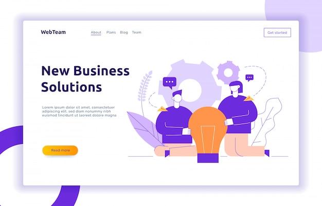 Vector de negocios y el concepto de diseño de intercambio de ideas
