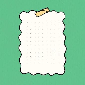 Vector de nota digital sobre fondo verde pastel