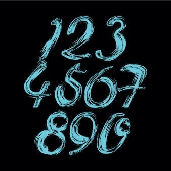 Vector de número de grunge abstracto