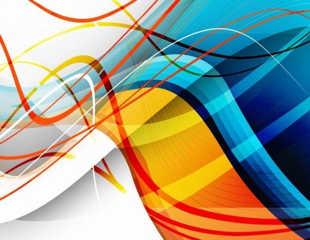 Vector de onda abstracta