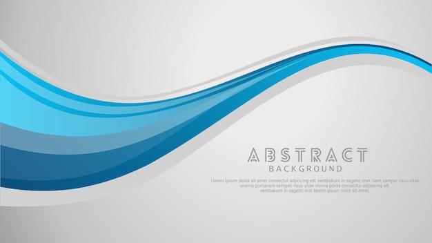 Vector de onda azul ondulado abstracto swoosh fondo.