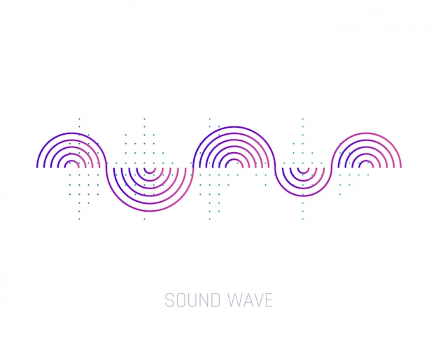 Vector de onda de sonido. ondas sonoras coloridas para fiestas, dj, pub, clubes, discotecas