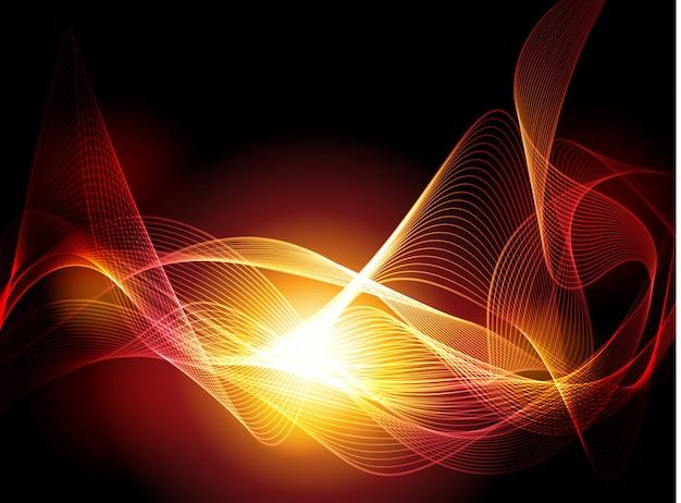 Vector ondas abstractas sobre fondo negro