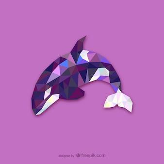 Vector orca poligonal