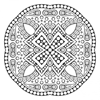 Vector ornamental mandala inspirado arte étnico