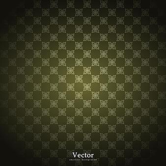 Vector ornamental patrón arabescos y elementos florales dorados.