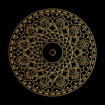 Vector de oro degradado mandala