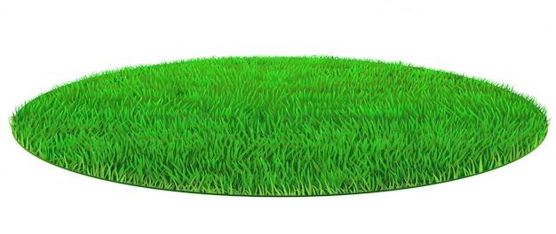 Vector oval verde césped textura de hierba