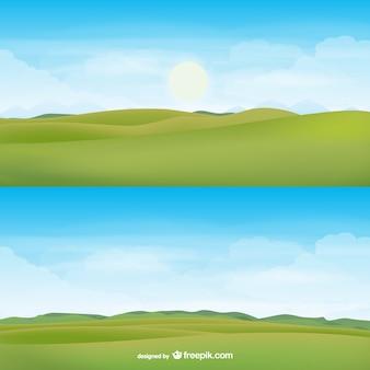 Vector de paisaje con el horizonte