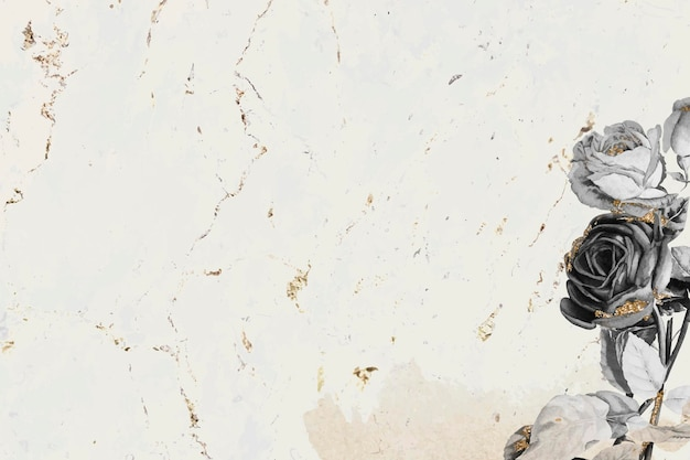Vector de papel tapiz brillante floral en blanco
