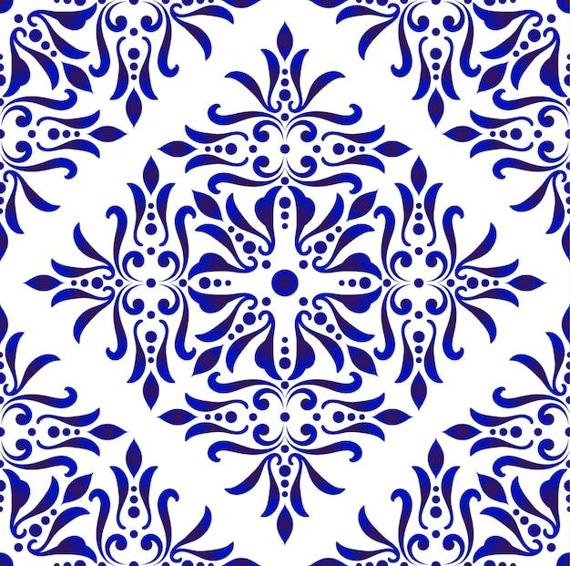 Vector de patrón de azulejo